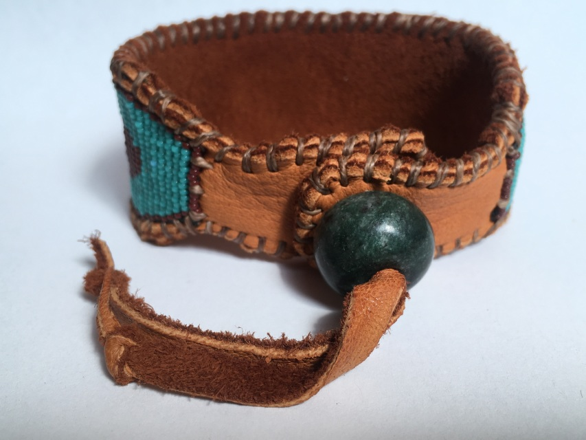 Men S Wide Cuff Wetlands Native American Inspired Beaded